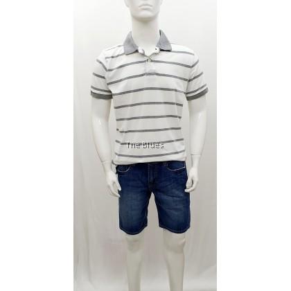 Blue Man Stripe Polo T-shirt