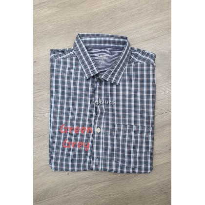 Blue Man Small checker short sleeve shirt