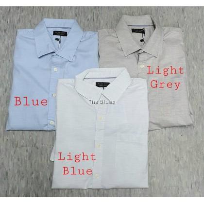 Blue Man Plain Shirt