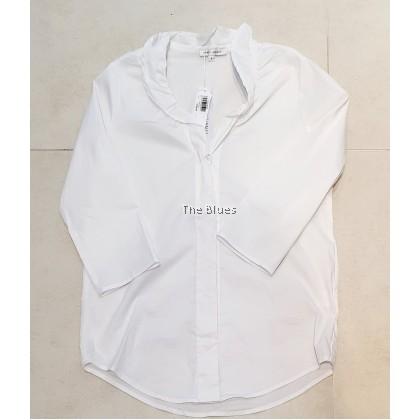 Miss Blue ladies 3/4 white Blouse